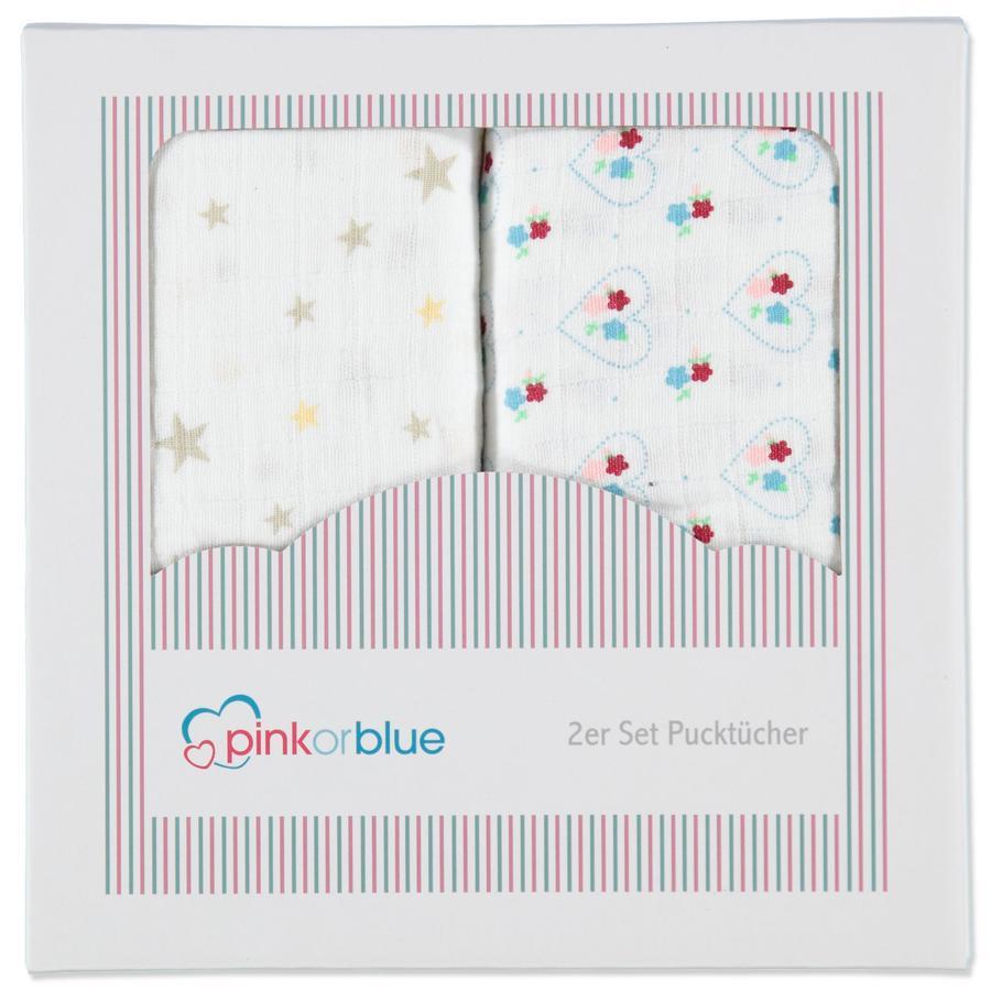 pink or blue Girls Pieluchy tetrowe 2 szt.