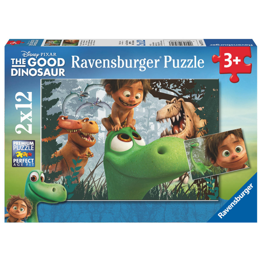 RAVENSBURGER Puzzel 2x 12 stukjes The Good Dinosaur