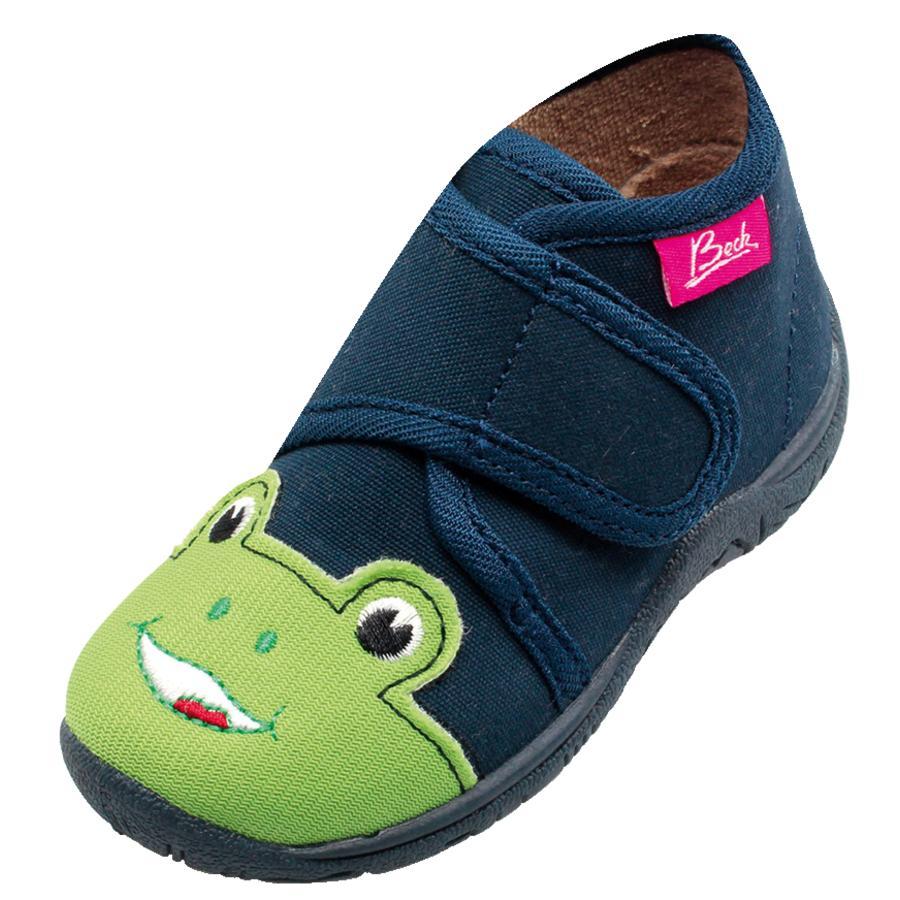 BECK Boys pantofle FROG ciemnoniebieskie