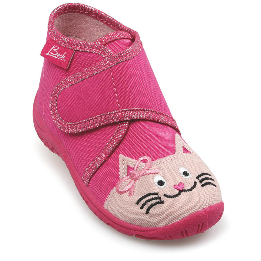 BECK Flickor tofflor CAT rosa
