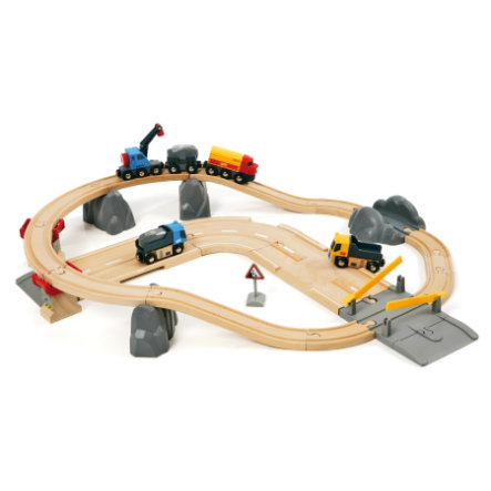 BRIO Circuit de base Circuit rail route transport de roches