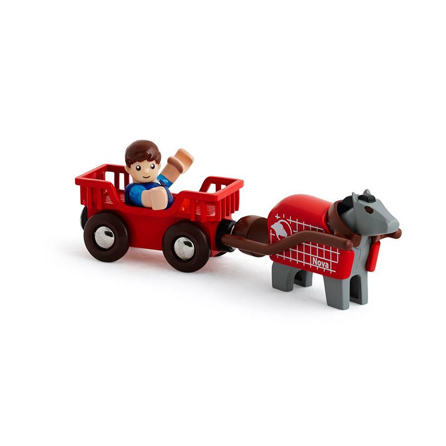 BRIO Koňský vůz s figurkou