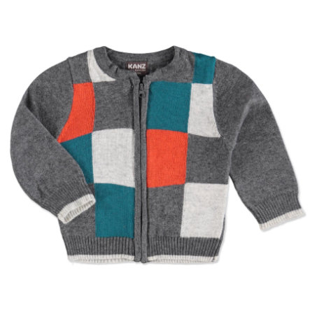 KANZ Boys Mini Strickjacke castlerock melange