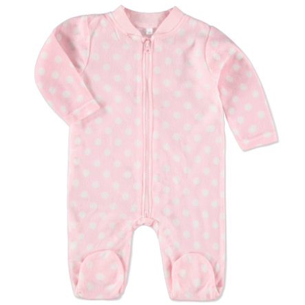 EDITION4BABYS Baby Fleeceoverall gepunktet rose