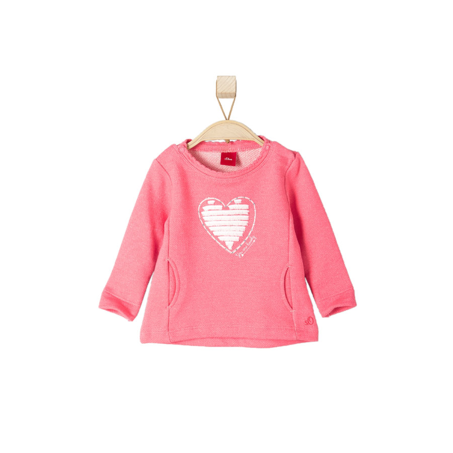 s.OLIVER Girls Sweatshirt pink melange