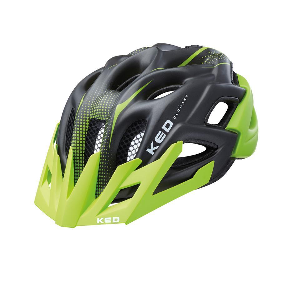 KED Cykelhjälm Status Jr. Green Black matt Stl. S 49-54 cm