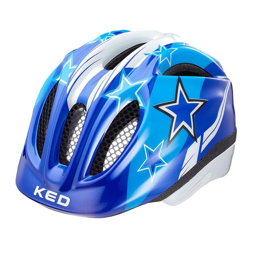KED Casque de vélo enfant Meggy Blue Stars T. XS, 44-49 cm
