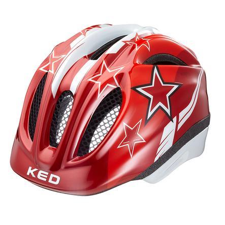 KED Kinder Fahrradhelm Meggy Red Stars Größe XS 44-49 cm