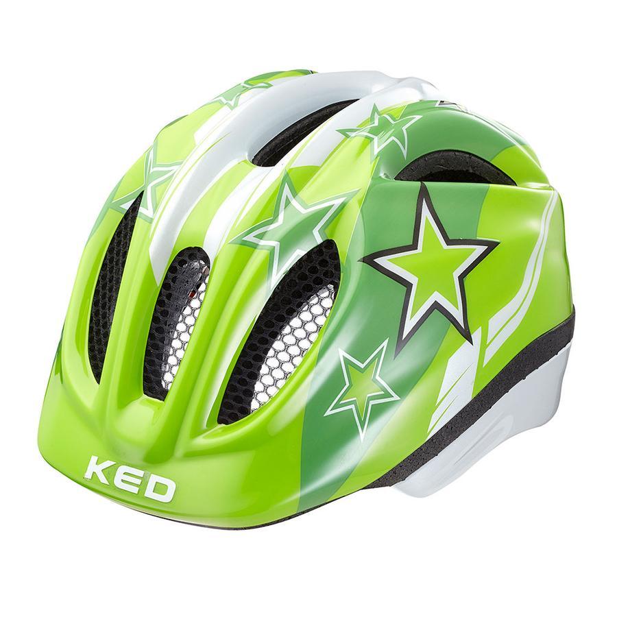 KED Casque de vélo enfant Meggy Green Stars T. S, 46-51 cm