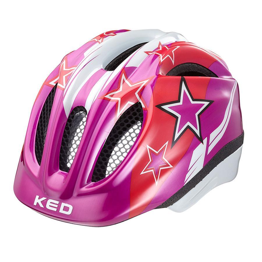 KED Casque de vélo enfant Meggy Violet Stars T. S/M, 49-55 cm