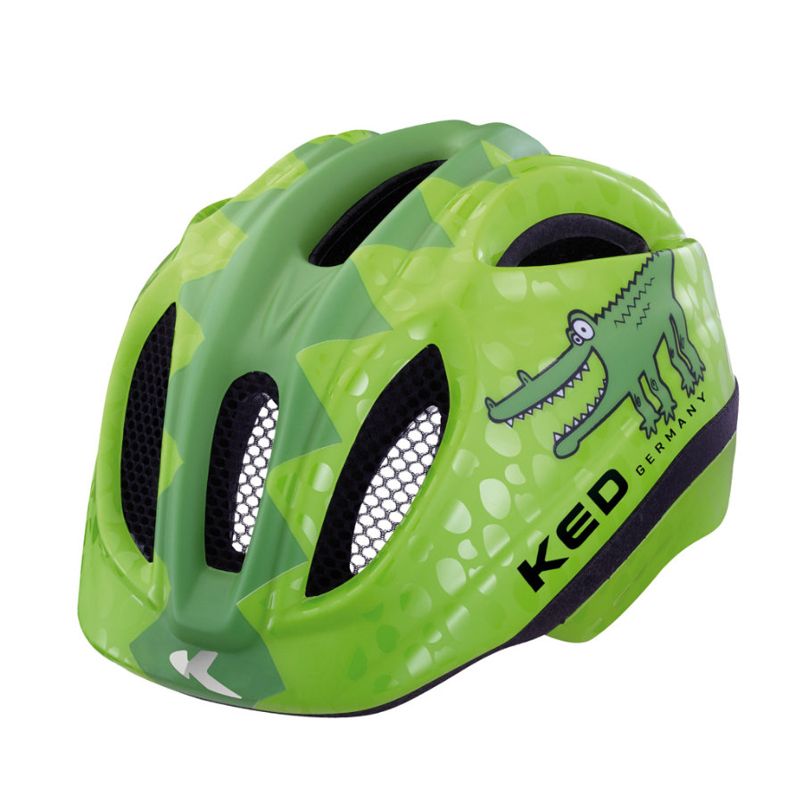 KED Kinder Fahrradhelm Meggy Reptile Green Croco Gr. S 46-51 cm