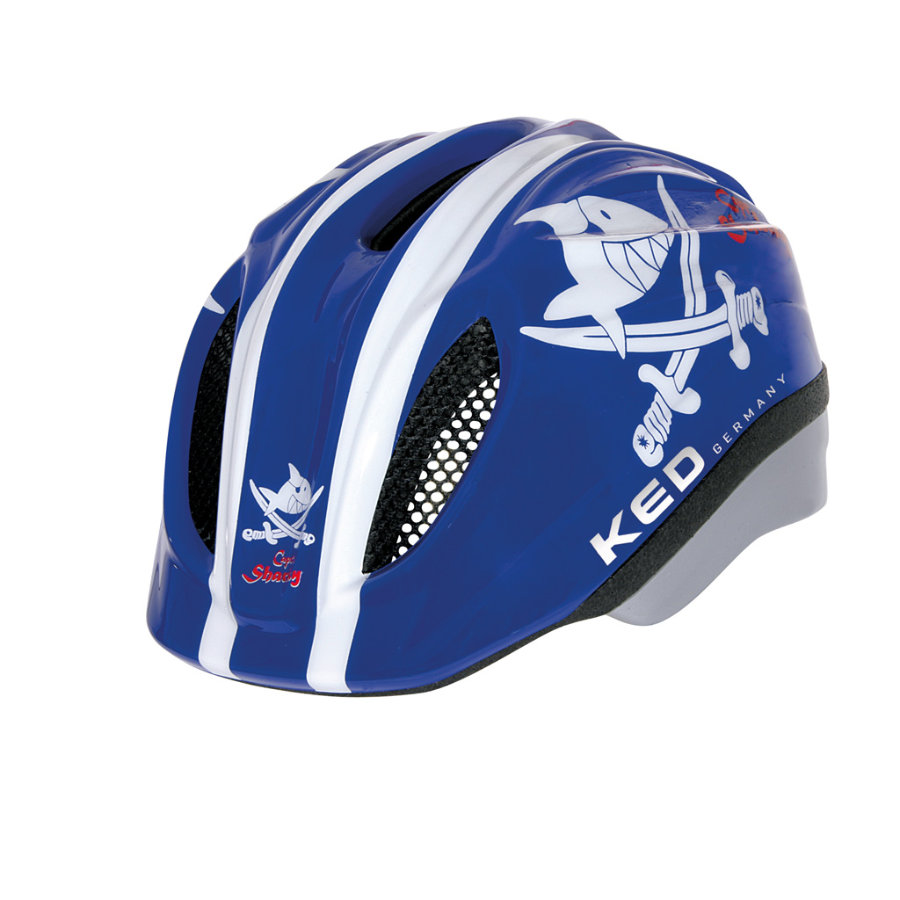 KED Casque de vélo enfant Meggy Original Sharky Blue T. M, 52-58 cm