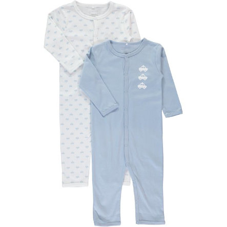 name it Boys Schlafoverall 2er Pack cashmere blue