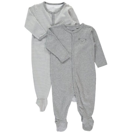 NAME IT Baby Overal na spaní 2 ks grey melange