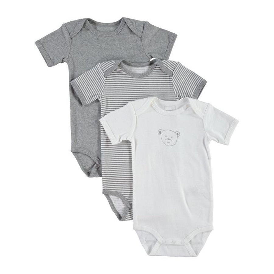 NAME IT Body 3er Pack grey melange