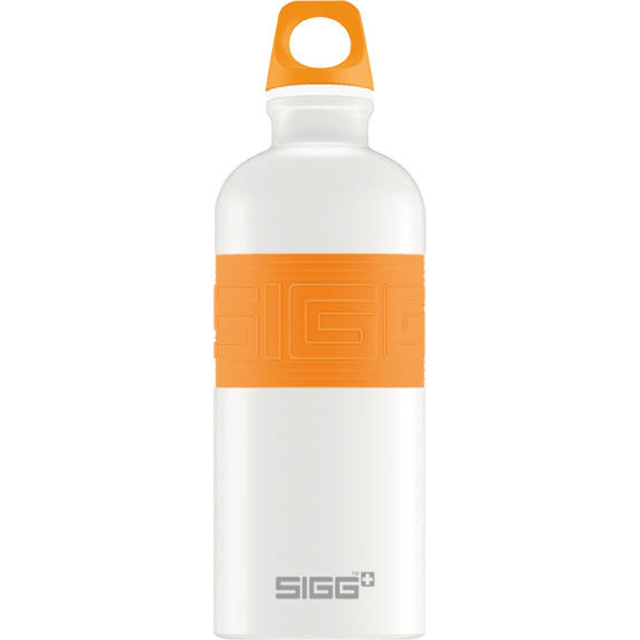 SIGG Láhev na pití 0,6 l CYD Pure Design White Touch Orange