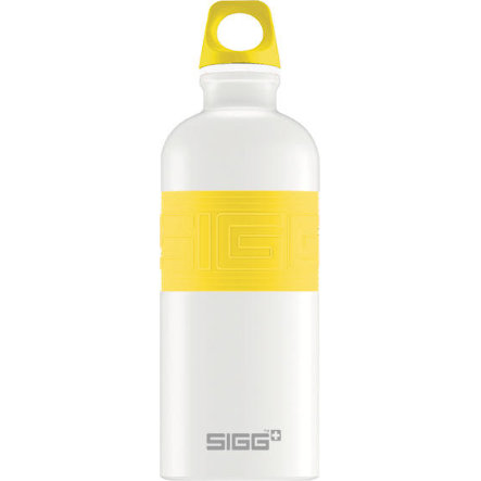 SIGG Láhev na pití 0,6 l CYD Pure Design White Touch Yellow