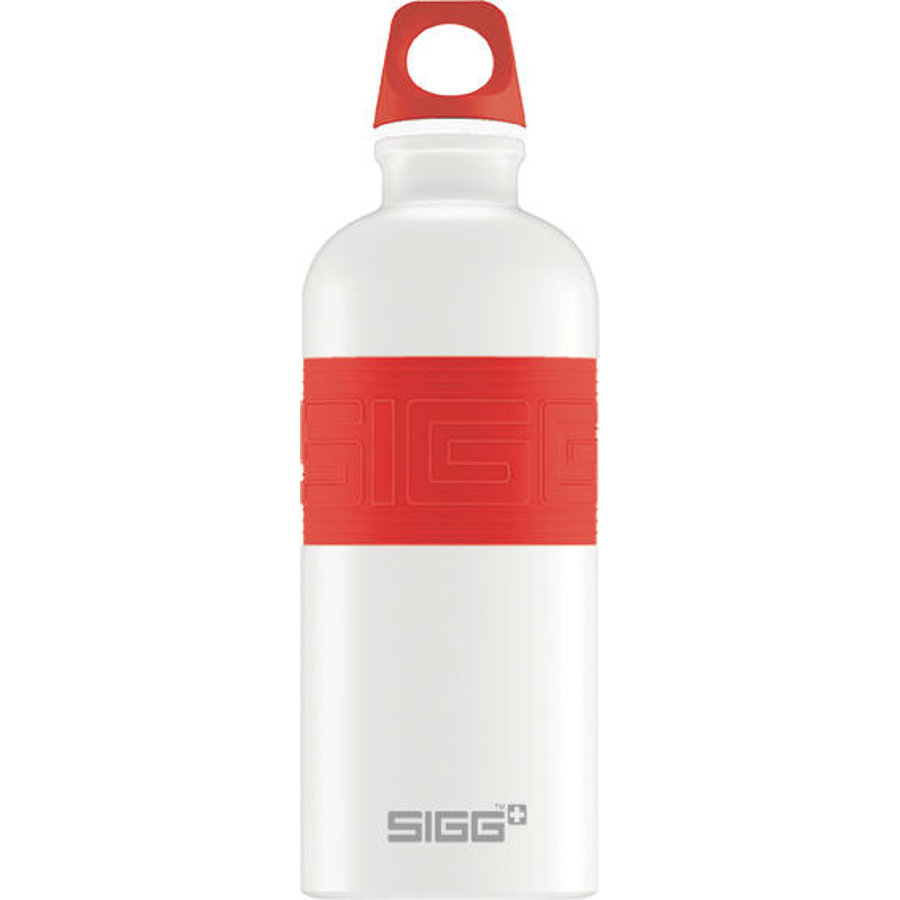 SIGG Láhev na pití 0,6 l CYD Pure Design White Touch Red