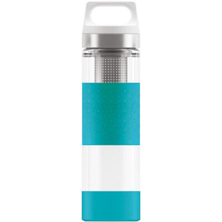 SIGG Hot & Cold Trinkflasche 0,4 L Glass WMB - Aqua