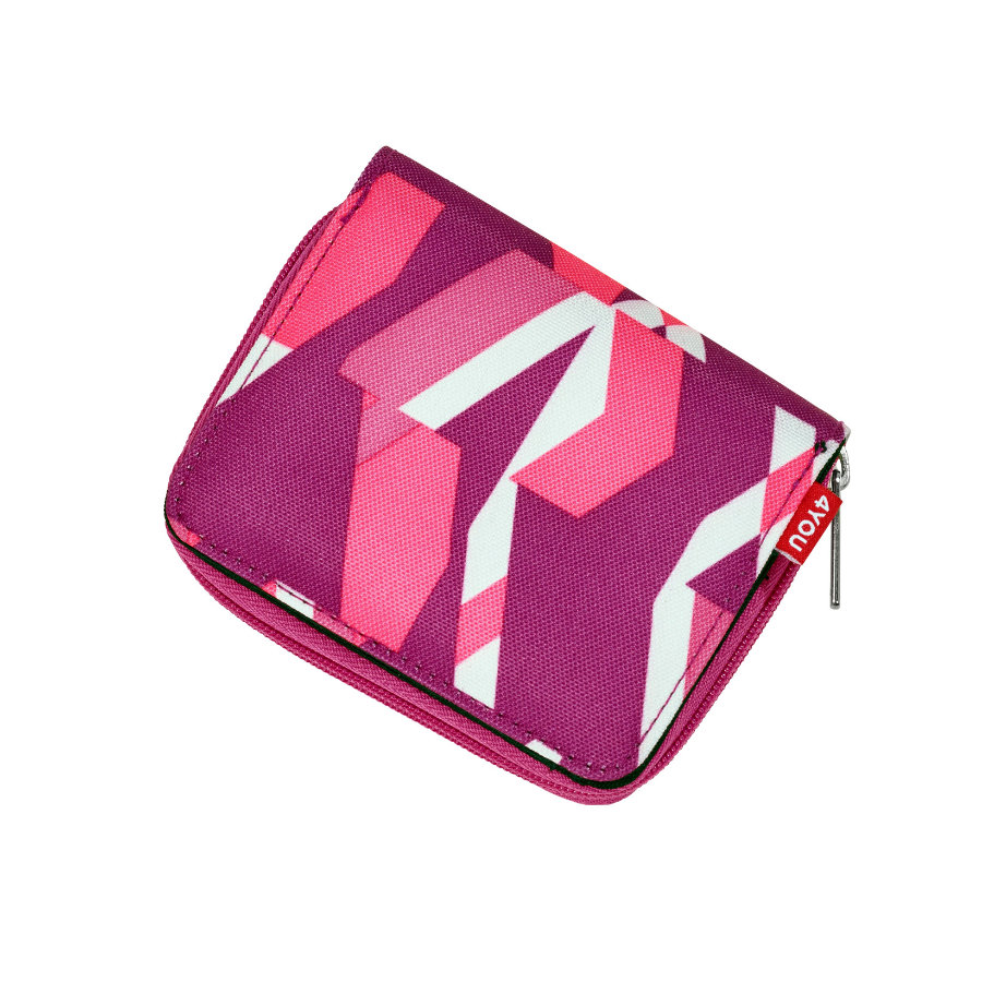4YOU Jump Pencil Case + Geodreieck - 307-48 Chequer Pink