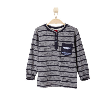 s.OLIVER Boys Mini Longsleeve grey melange stripes