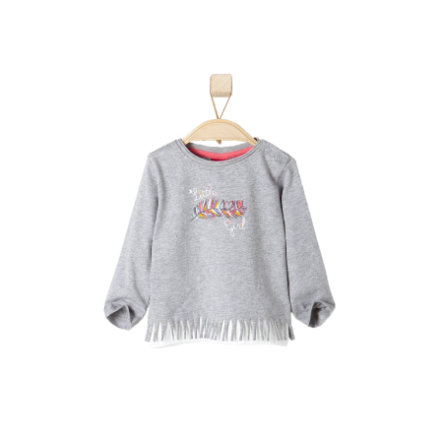 s.OLIVER Girls Longsleeve light grey melange