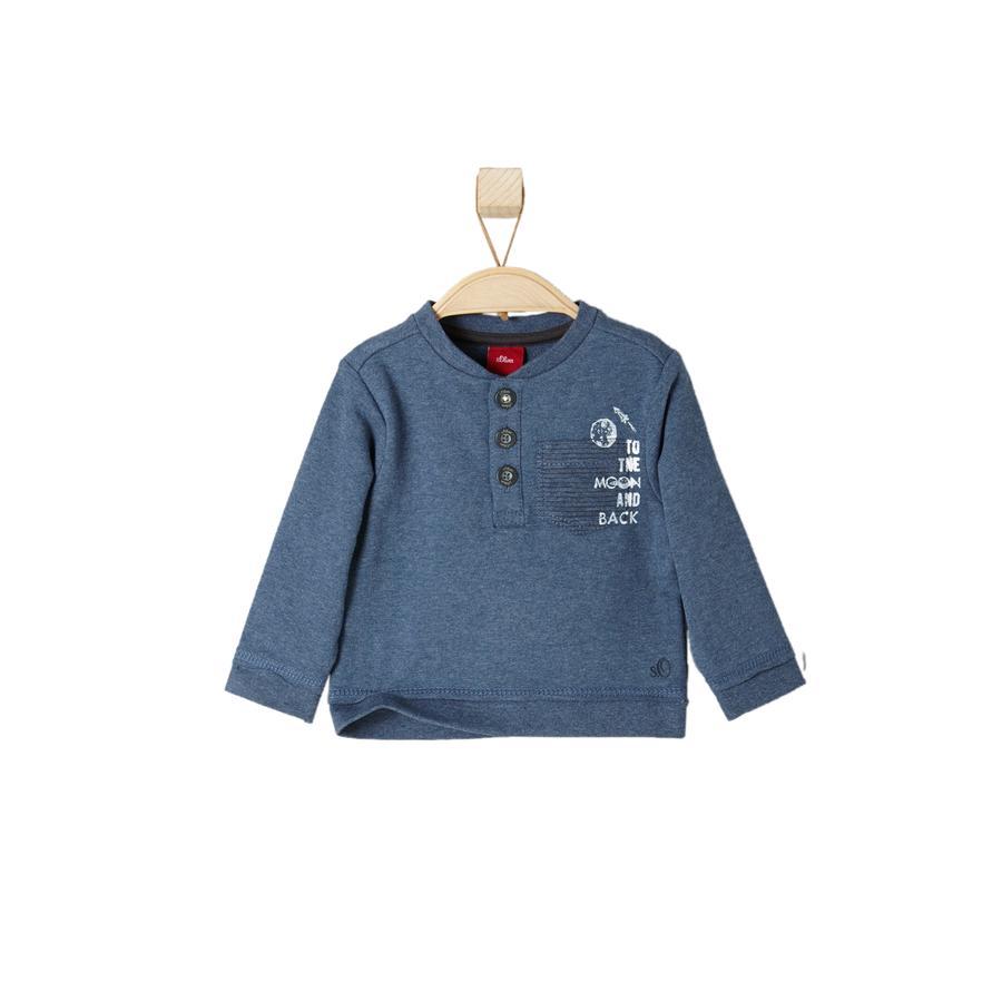 s.OLIVER Boys Sweatshirt blauw melange