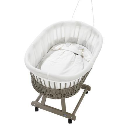ALVI Baby Rivestimento per culla in vimini Birthe