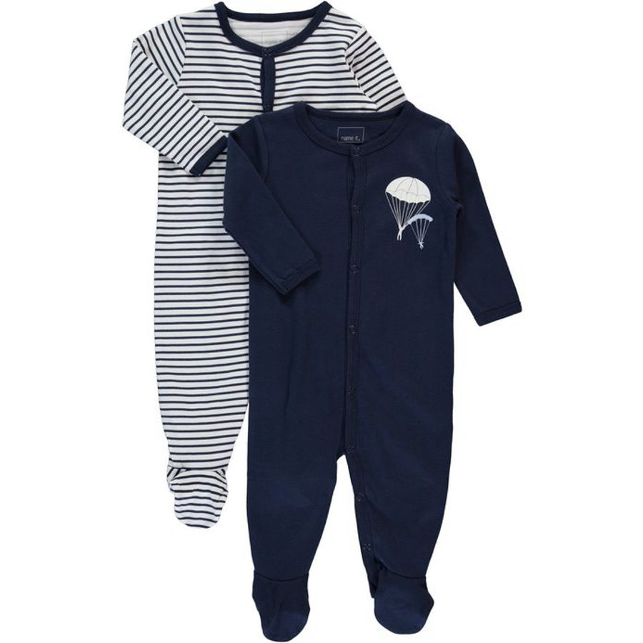 NAME IT Boys Schlafoverall 2er Pack dress blues