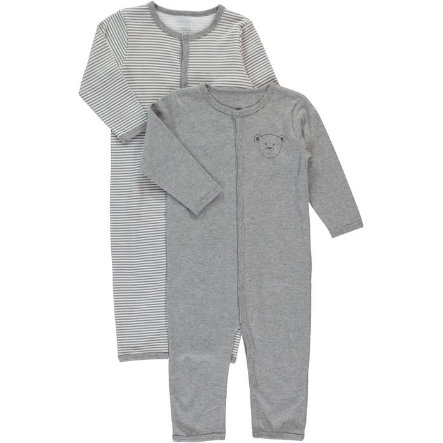 NAME IT Mini Overal na spaní 2 ks grey melange