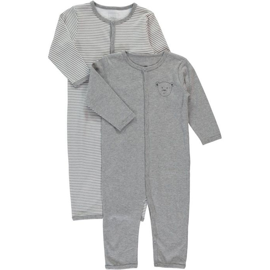 NAME IT Mini Schlafoverall 2er Pack grey melange