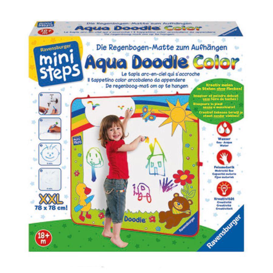 RAVENSBURGER Tapis de dessin enfant à accrocher ministeps Aqua Doodle XXL Color