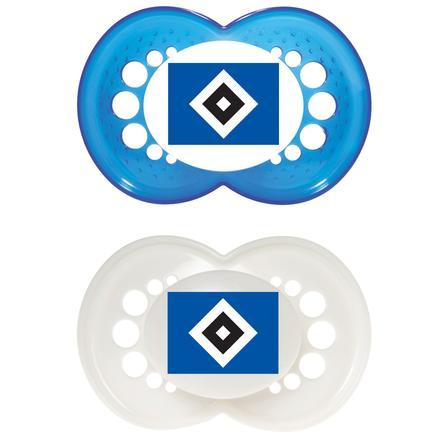 MAM Silikon-Schnuller Bundesliga 6-16 Monate Hamburger SV