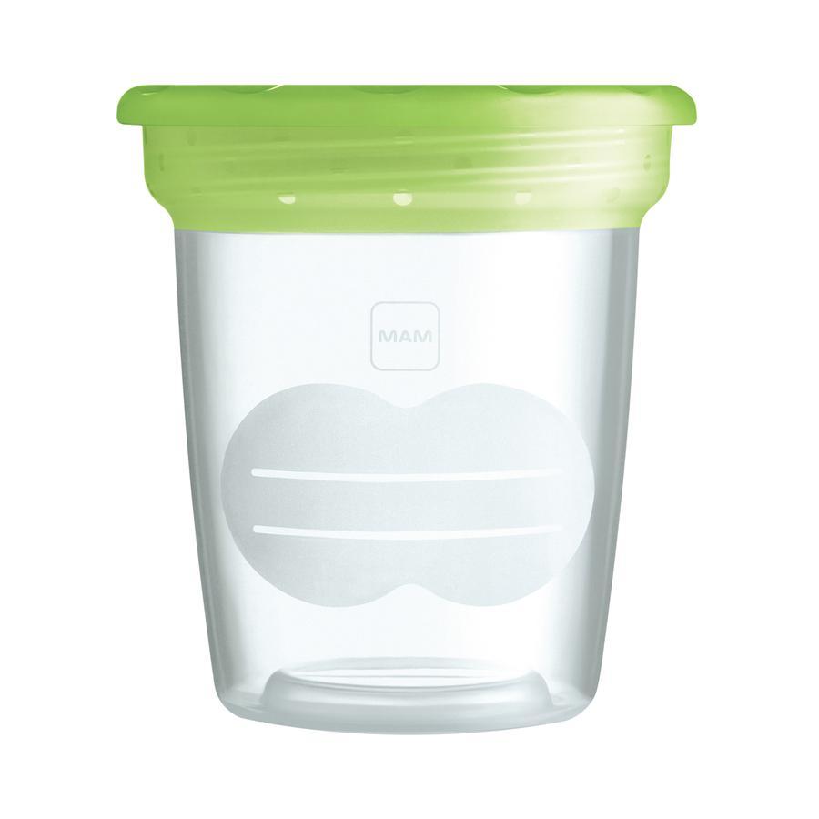 MAM Moedermelk bewaarbekers (5 stuks) BPA vrij