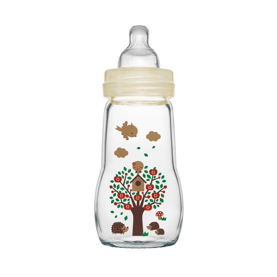 MAM Glasflasche Feel Good beige 260 ml 0+ Monate
