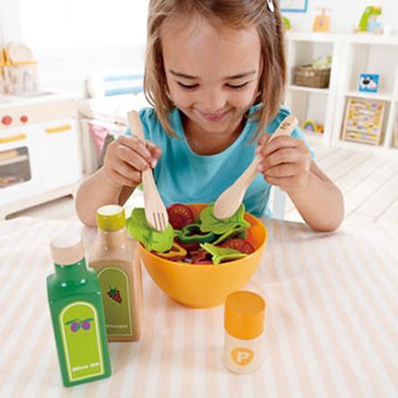 Hape Salade du jardin enfant bois, 36 pièces E3116