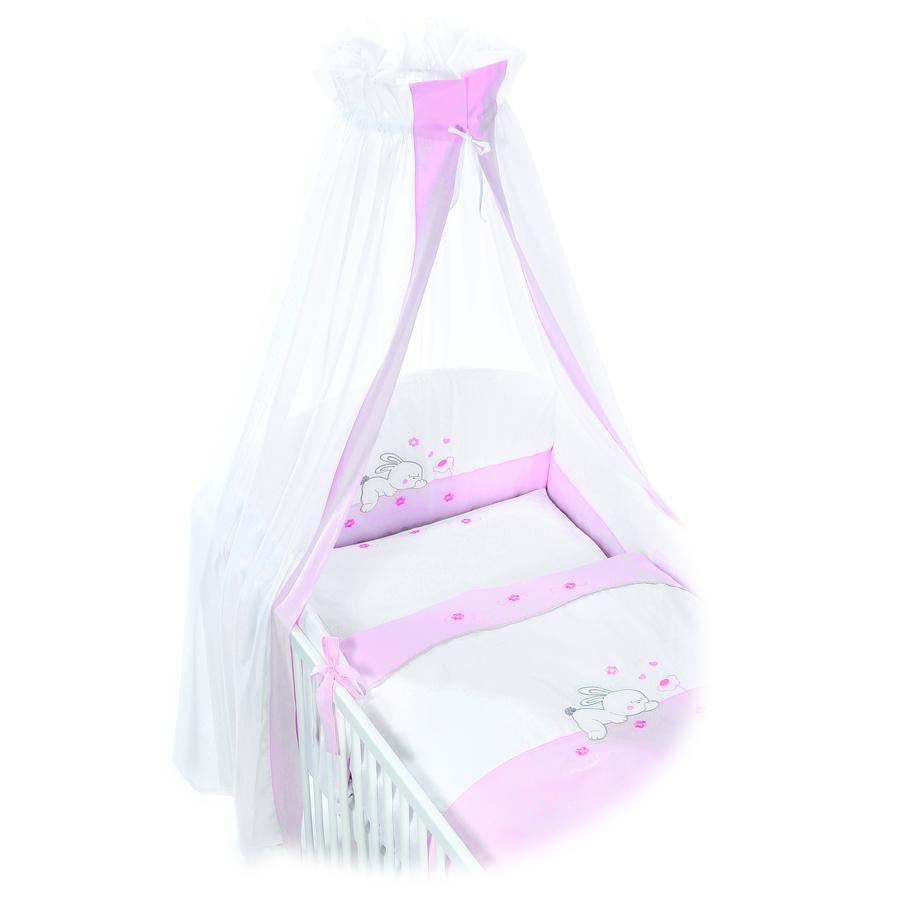 Easy Baby Set biancheria per culla 80x80cm RABBIT rosé