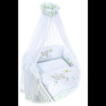 EASY BABY Set de berceau BUNNY blanc, 80 x 80 cm
