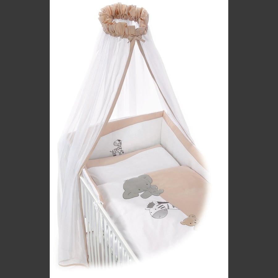 EASY BABY Sada ložního prádla do kolébky 80 x 80 cm ZOO beige