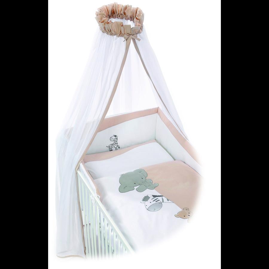 Easy Baby Set biancheria per culla 80x80cm ZOO beige
