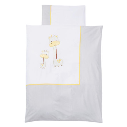 EASY BABY Bettwäsche-Set 80x80cm GIRAFFE white