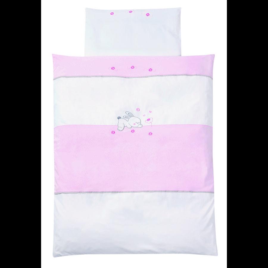 EASY BABY Ropa de cama 80x80cm RABBIT rosado