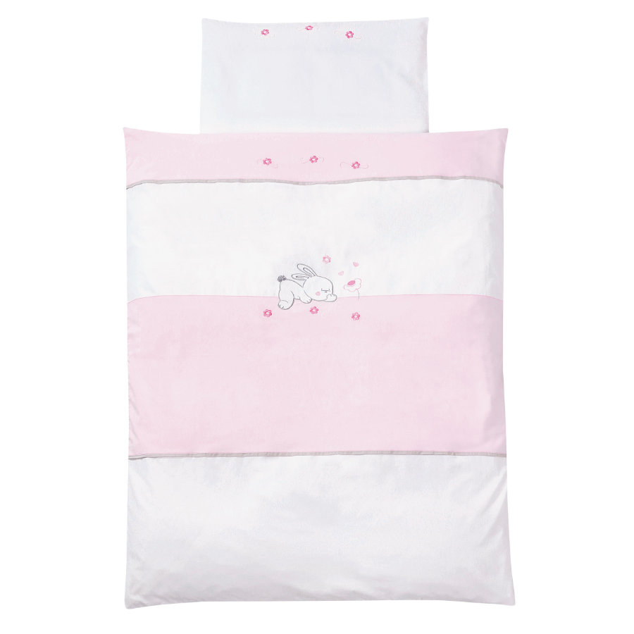 EASY BABY Bettwäsche-Set 80x80cm RABBIT rosé