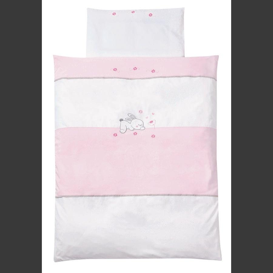 EASY BABY Ložní prádlo 80 x 80 cm RABBIT rosé