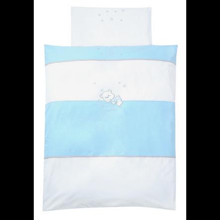 EASY BABY Parure de lit Ourson bleu, 80 x 80 cm