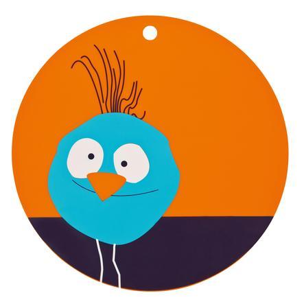 LÄSSIG Unterlage Platzset Vogel orange Silikon