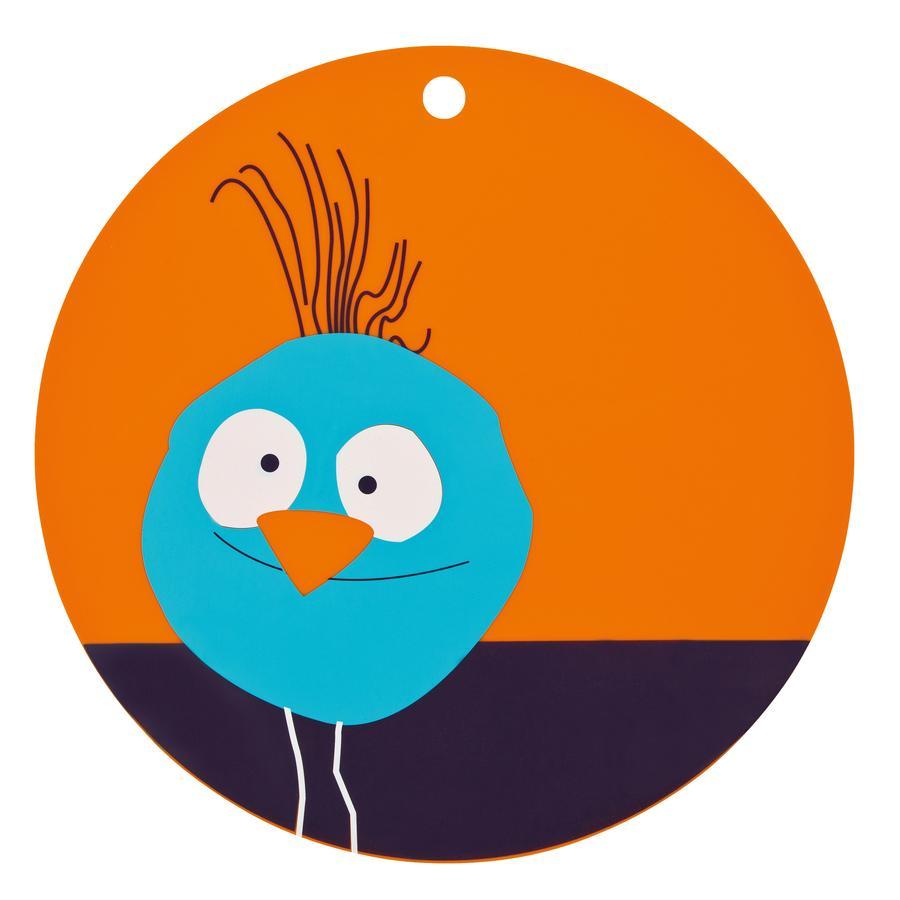 LÄSSIG Unterlage Silikon Platzset Vogel orange