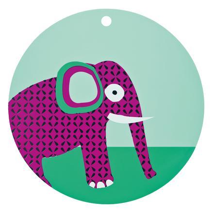 LÄSSIG Silikonunterlage Platzset Elefant magenta