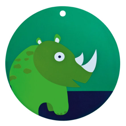 LÄSSIG Unterlage Platzset Nilpferd grün Silikon