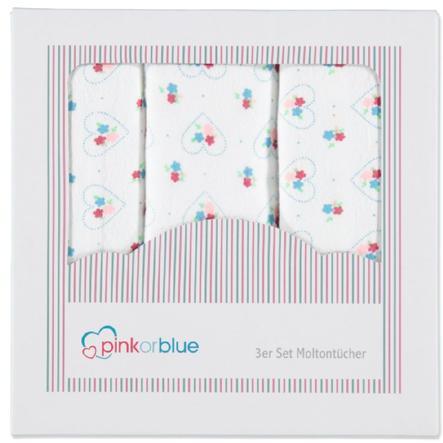 PINK OR BLUE EXKLUSIV Moltonové plenky 3 ks barevné